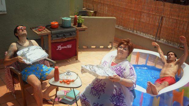 Claudio e Fabrizio Colica con Nonna Angela